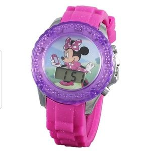 Disney Minnie Mouse Rotating Flash LCD Watch